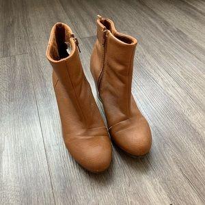 Brown Heel Booties